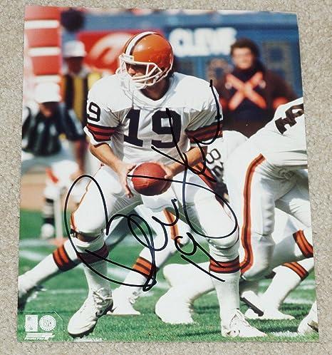 7df036af8 Signed Bernie Kosar Picture - #19 8x10 All White Uniform - Autographed NFL  Photos