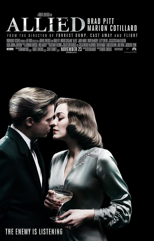 Amazon Com Allied Movie Poster Limited Print Photo Brad Pitt