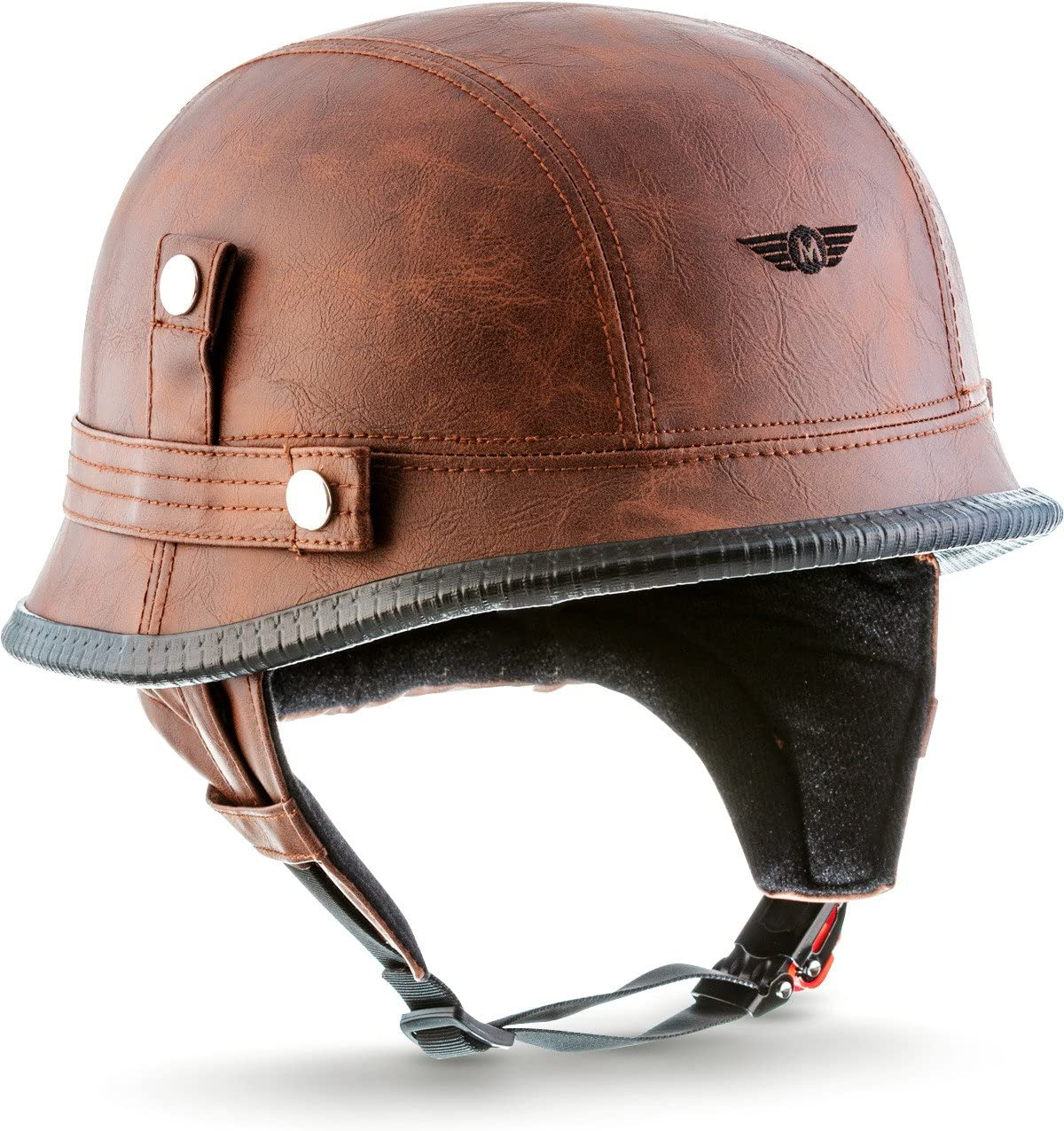 "61-62cm MOTO Helmets/® D33 /""Leather Brown/"" /· Click-n-Secure Sac XL"