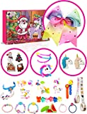 Purple Ladybug Novelty Gifts for Girls 2019 Advent Calendar, with 24 Unique Gifts Including Unicorn Accessories, Hair Clips, Stamps for Kids, Cute Bracelets, a Large Hair Bow & Much More!