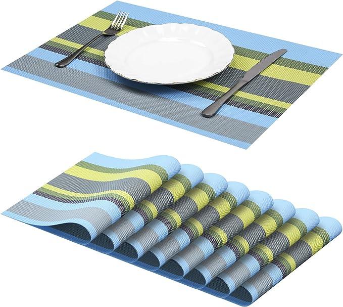 Sets de Table PVC Lot de 8 Sets de Table Tapis de table D/écor Lavables Tapis de Sous-verres Isolants Creux R/ésistants /à la Chaleur Tapis de Table en PVC R/ésistant /à pour la d/écoration de Mariage No/ël