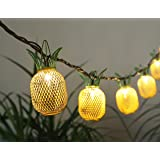 Pineapple String Lights - 6ft. Per Decorative String Light - 10 Fun Pineapple Fun Lights Per String! Plug-In Power Supply