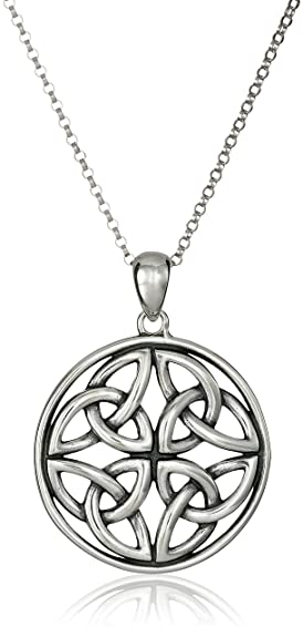 Sterling silver celtic knot pendant necklace 18 amazon jewelry sterling silver celtic knot pendant necklace 18quot mozeypictures Image collections