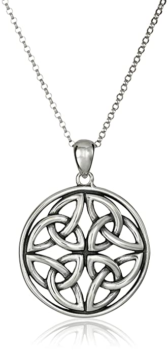 celtic silver products sterling img trinity pendant round