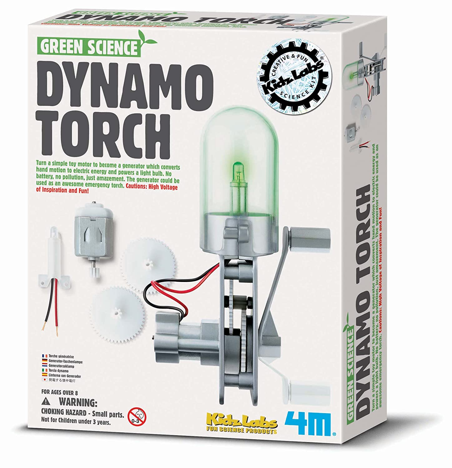 4M Green Science Dynamo Torch Great Gizmos 4147SM Learning_and_Exploration Environmental Science Kits