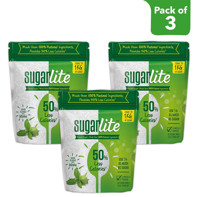 Sugarlite 50% Less Calories Sugar Pouch, 3 X 500 g