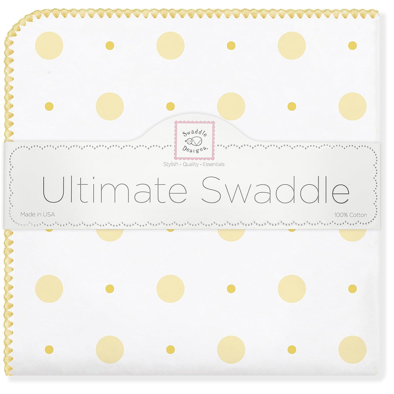SwaddleDesigns Manta Envolvente Ultimate, Franela de Algodón de calidad superior, Puntos grandes puntos chicos, Rosa pastel Swaddle Designs SD-492P