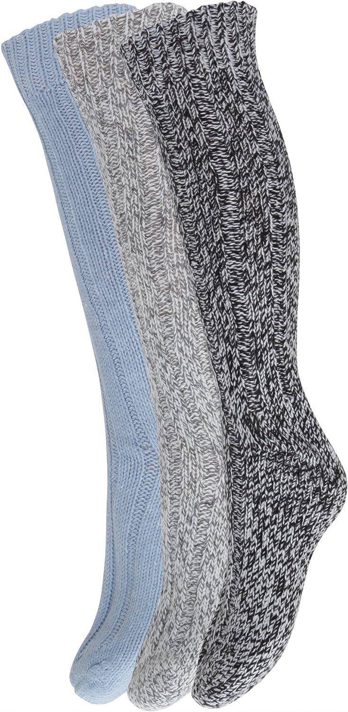 Severyn Calcetines largos y gruesos con lana para bota para ir de excursión/caminar (pack de 3) (EUR 37-41/Variado): Amazon.es: Ropa y accesorios