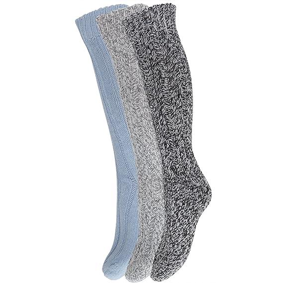 Calcetines largos y gruesos con lana para bota para ir de excursión/caminar (pack