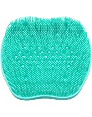 CERRXIAN Silicone Foot Bursh Scrubber Massager Shower Foot Brush Deep Clean Exfoliate Spa Increases Circulation (Bead, Green)