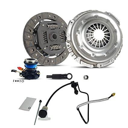 Clutch Kit Pre Filled Master Cylinder And Line Assembly with Rod Works With Ford Explorer Ranger