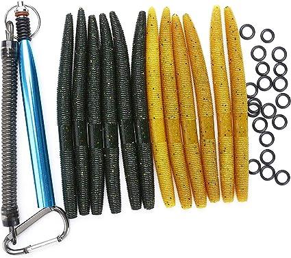 Set Wacky Worm Tool with 100PCS O-Rings Wacky Rigging Plastic Senko Style Worms