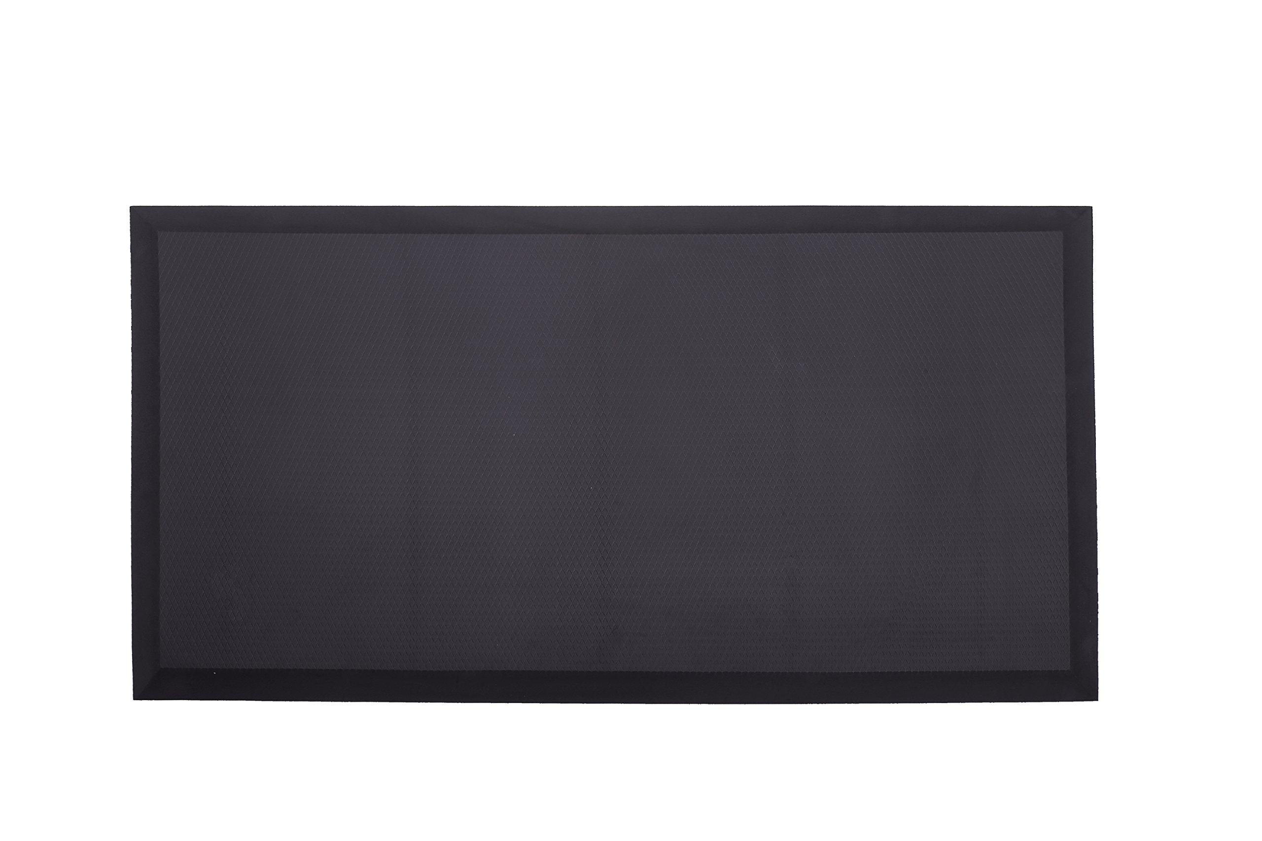 Amcomfy Standing Desk Mat Comfort Floor Mat Anti Fatigue Mat for Office (20''x39''x3/4'', black)