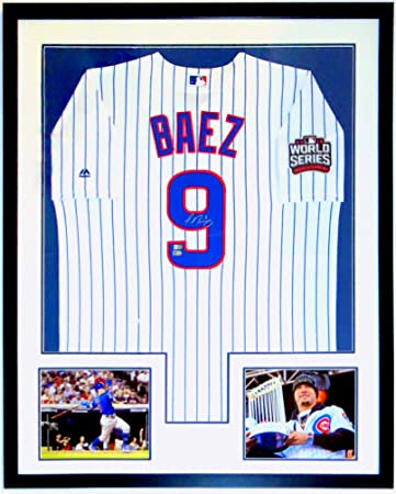 f73604678ac Javier Baez Signed Majestic Chicago Cubs 2016 World Series Jersey - MLB    Fanatics COA Authenticated