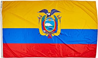 product image for Annin Flagmakers Model 192336 Ecuador Flag Nylon SolarGuard NYL-Glo, 5x8 ft, 100% Made in USA to Official United Nations Design Specifications