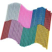 KUUQA 70 stuks glitter Hot Melt lijmpatronen hete lijmsticks lijm sticks universele lijmstiften voor doe-het-zelf kunst…