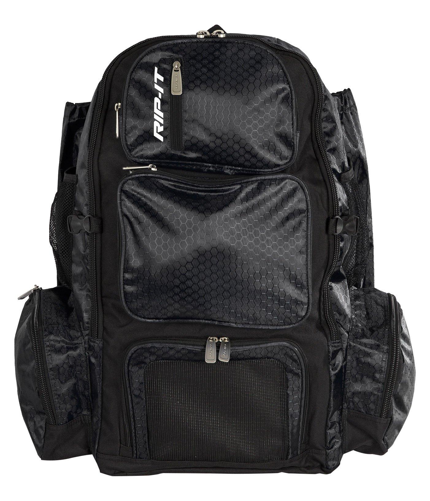 RIP-IT Pack It Up Backpack - Softball Equipment Bag - Black