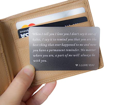 Amazon.com: RXBC2011 - Cartera con tarjeta de regalo grabada ...