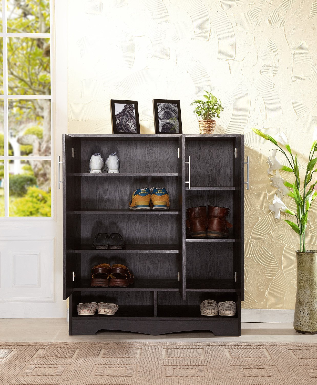 Amazon.com: ioHOMES Westwood 7-Shelf Shoe Cabinet, Black: Kitchen ...