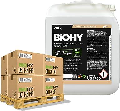 BiOHY Descalcificador de cafetera (24 x Bote de 20 litros) | ideal ...