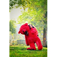 Toyhub Teddy Bear With Neck Bow (122 Cm,Red)