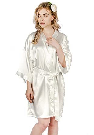 White Satin Robe a817e500e