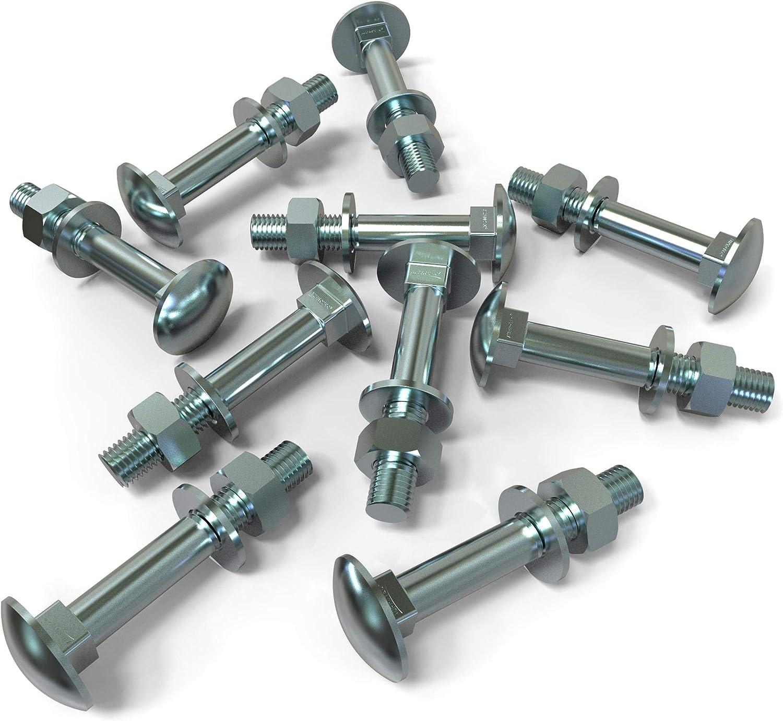 20x M5x35 20 x Boulons M5 x 35 t/ête ronde collet carr/é Vis TRCC avec /Écrou et Rondelle Longueurs 20-80mm choix