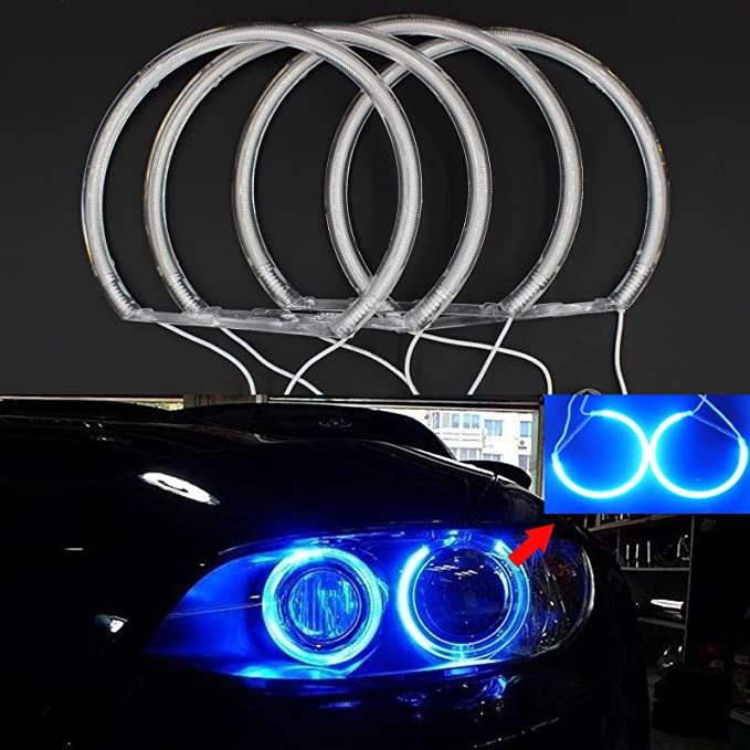 1 Set Not Projector 4x HID STYLE COB LED Angel Eyes Halo