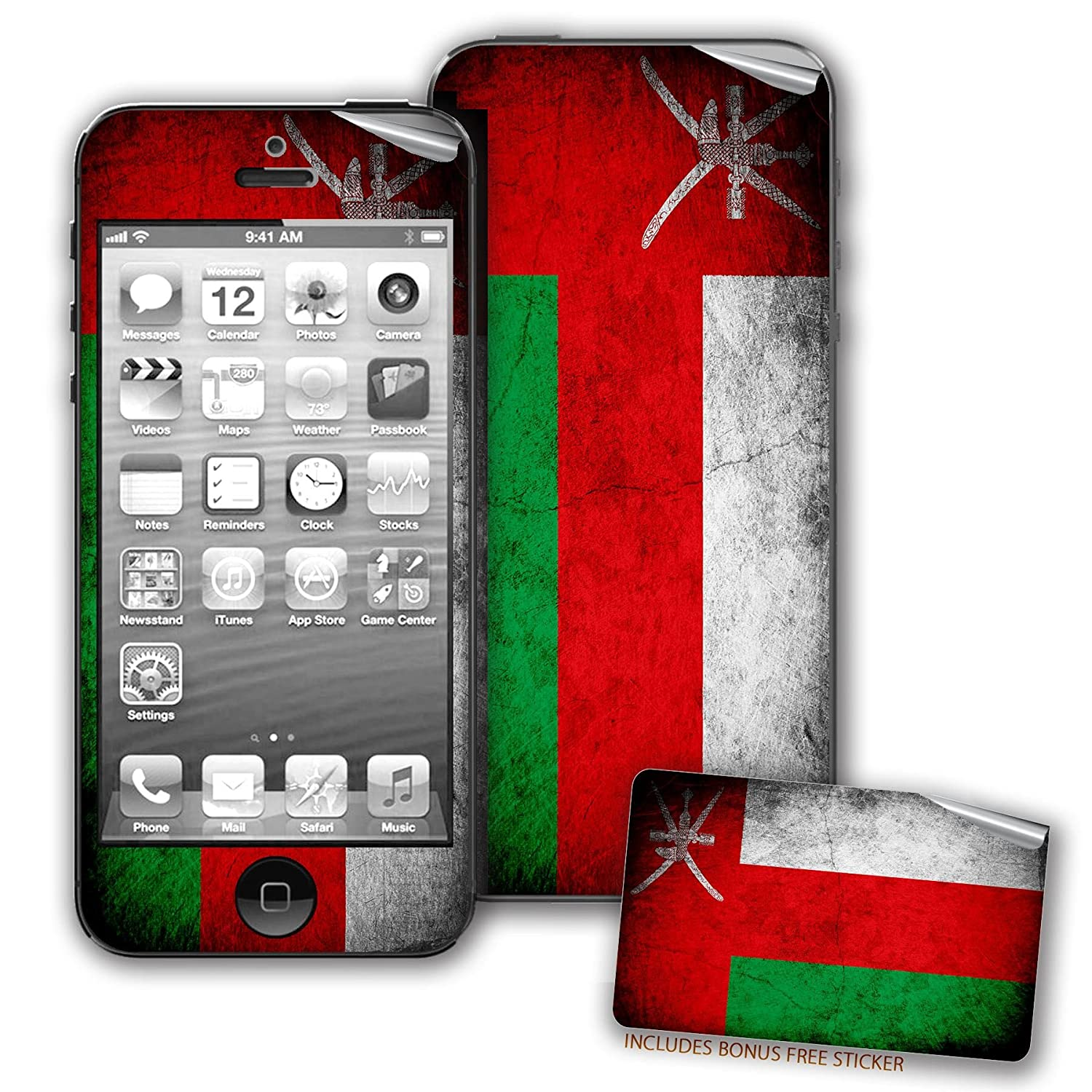 Amazon Com Skin Decal For Iphone 5 5s With Flag Of Oman