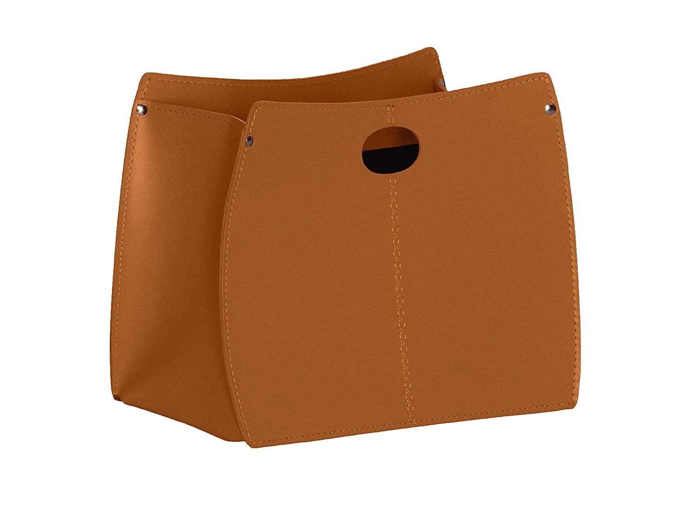 VANDA: portariviste in cuoio, colore Marrone, Made in Italy Gavemo