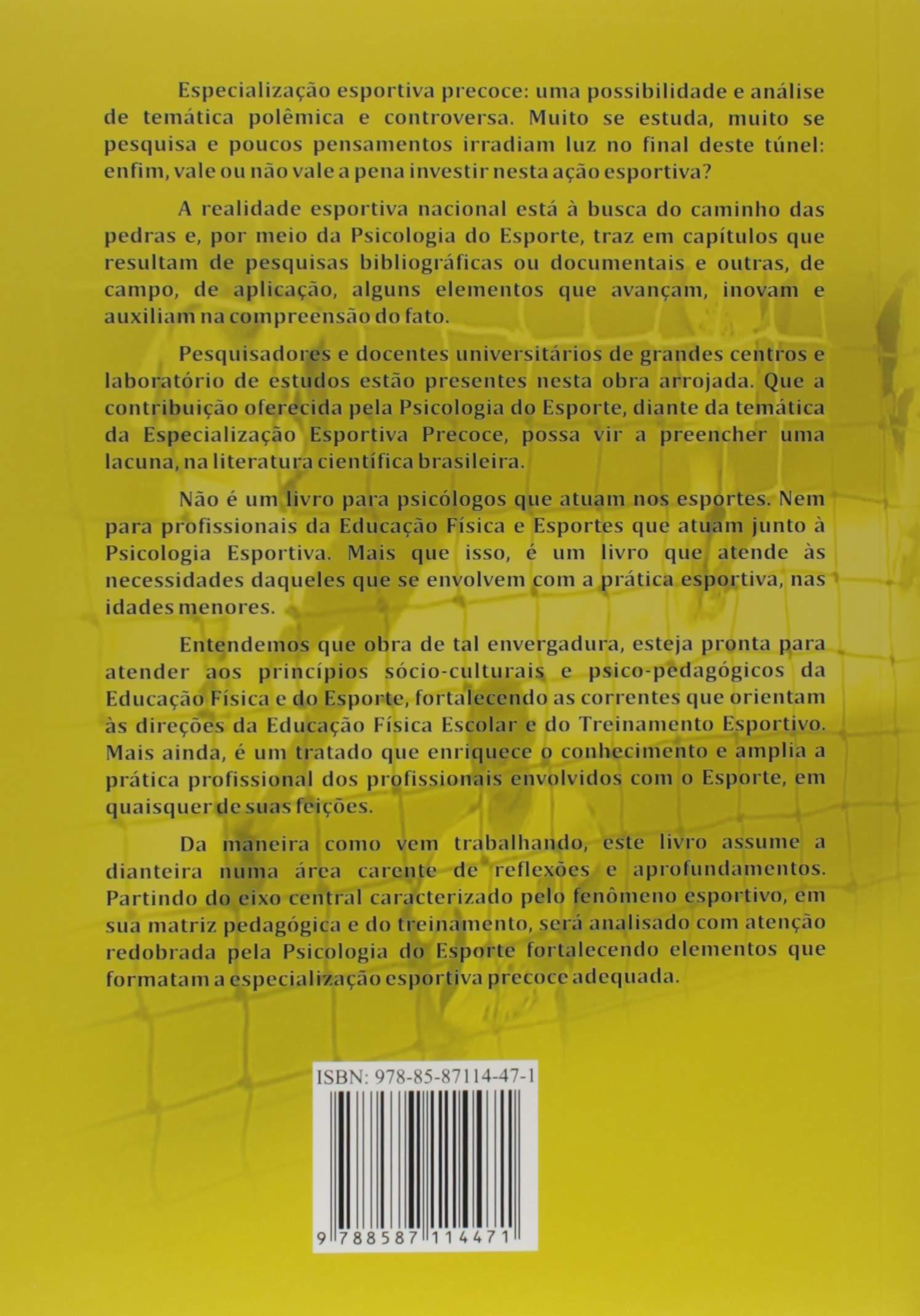 da93712ed2697 ... 22934c8472 Especialização Esportiva Precoce. Perspectivas Atuais da  Psicologia do Esporte Amazon.es Afonso Antonio ...