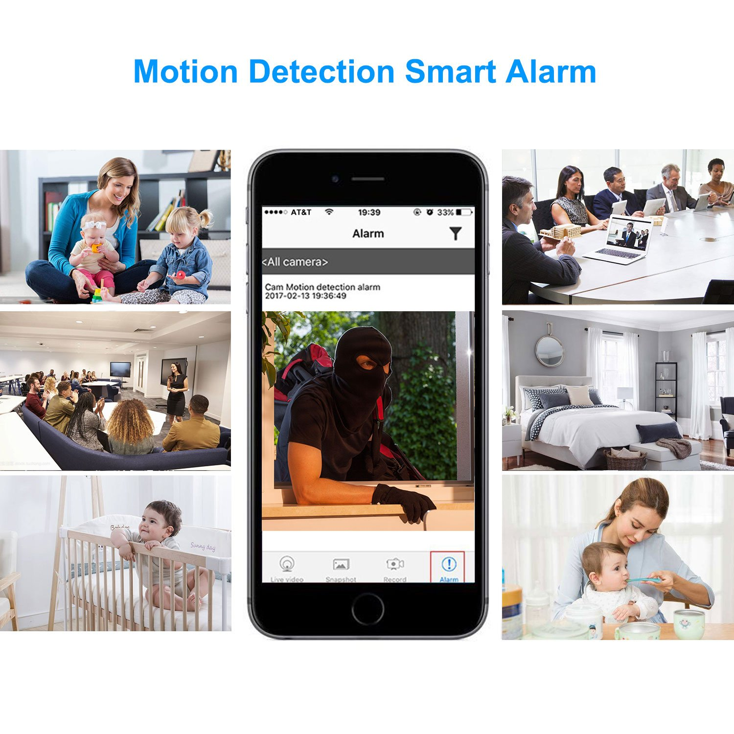 Hidden Spy Camera,1080P WiFi Mini Camera Portable Wireless Security Cameras Video Recorder IP Cameras Nanny Cam with DIY Interchangable Lens/Motion Detection for Indoor Outdoor Monitoring by WBESEV (Image #6)