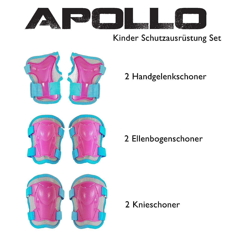 Blau Schoner f/ür Knie Ellenbogen Handgelenk Apollo Protektoren Set f/ür Kinder