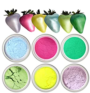 Easter Edible glitter shimmer LUSTER DUST set for cake decoration 6 colors set.Food Cake Paint , chocolate paint, ,