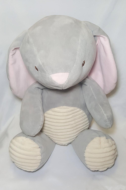 20 in Bunny Grey Plush Rattle