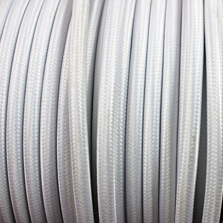 - Cable de luz con revestimiento textil smartect Cable para l/ámparas de tela en color Negro 3 hilos 3 x 0,75 mm/² Cable textil trenzado de 1 Metro