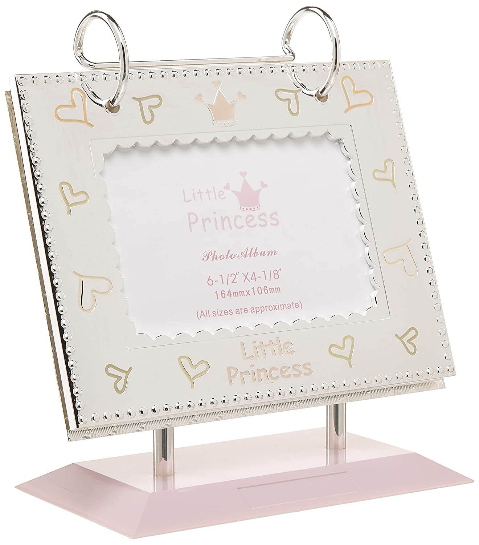 Elegance 88170 Little Princess Flip Photo Album 4x6-Inch Inserts Silver