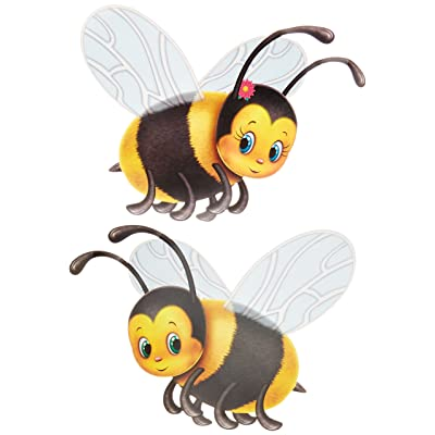 Beistle 57781 2-Pack Bumblebee Cutouts, 17-Inch: Childrens Party Decorations: Kitchen & Dining