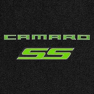 4Pc Car Floor Mats Carpet Black Ebony Ultimat Ss Silver Logo Camaro 2016