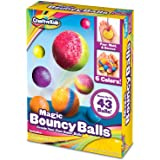 Creative Kids Diy Magic Bouncy Balls – Create Your Own Power Balls Craft Kit For Kids – Includes 20 Bags Of Multicolored Crystal Powder & 5 Molds