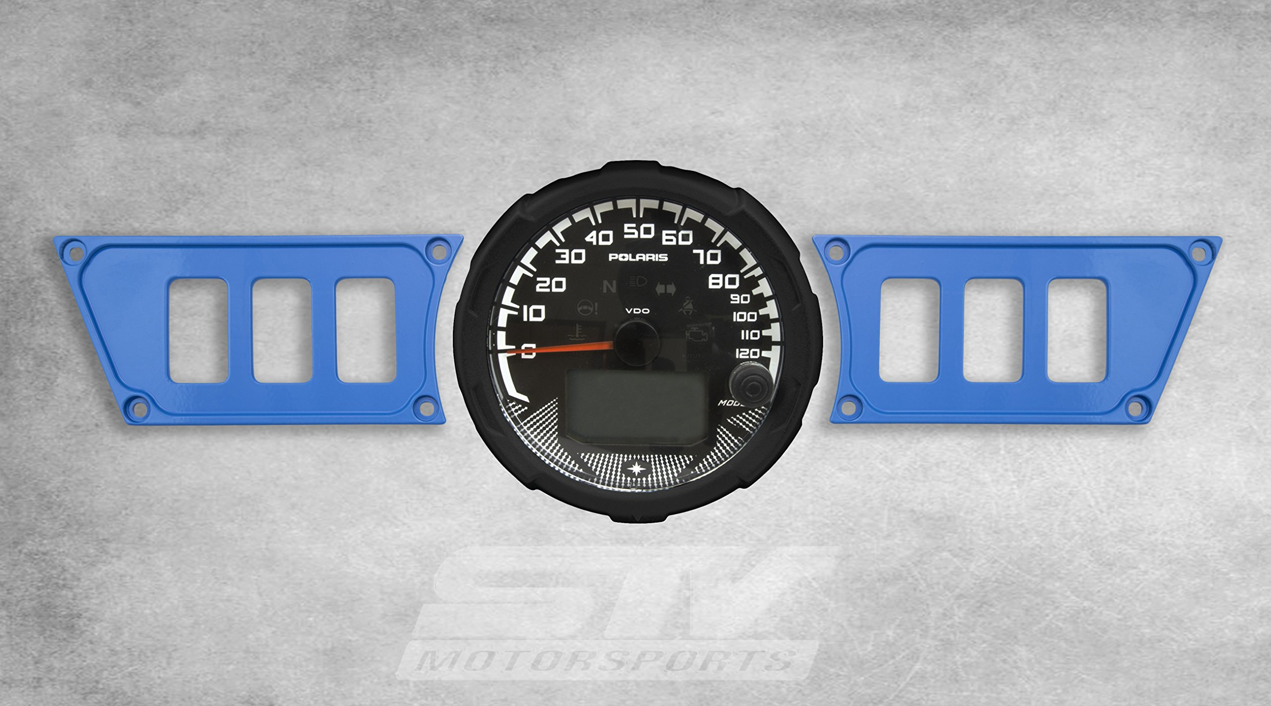 STV Motorsports Custom Aluminum Blue Dash Panel for Polaris RZR XP 1000 with 6 Switch Openings (no switches included)