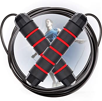 Cabepow Adjustable Jump Rope with Carrying Pouch