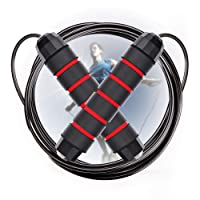 Adjustable Jump Rope with Carrying Pouch - Cardio Jumping Rope for Men, Women, and...