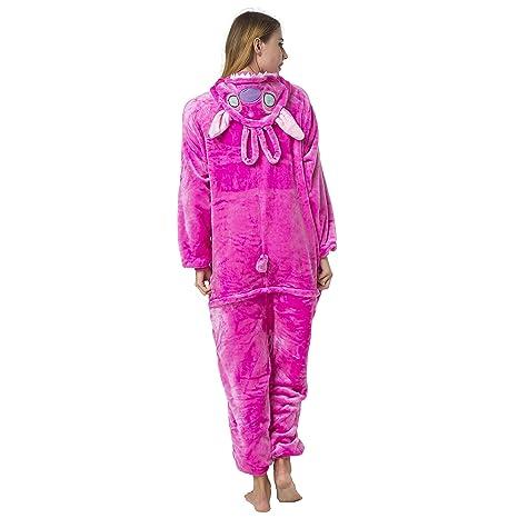 30714e9600 Katara 1744 - Costume Animale Pigiama intero Kigurumi Carnevale, Stitch  rosa - Taglia XL