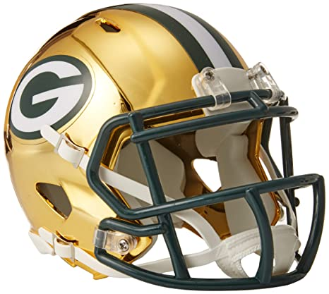 ca1b2b2a7bd Amazon.com   Riddell Chrome Alternate NFL Speed Mini Helmet Green Bay  Packers   Sports   Outdoors