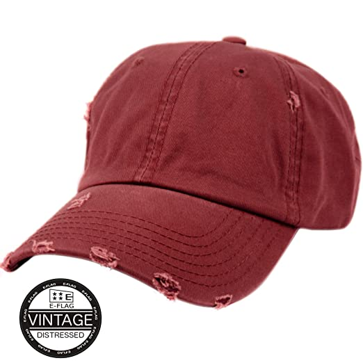 448f401ca05cd E-Flag Vintage Washed Distressed Cotton Dad Hat Baseball Cap Adjustable  Polo Style (A