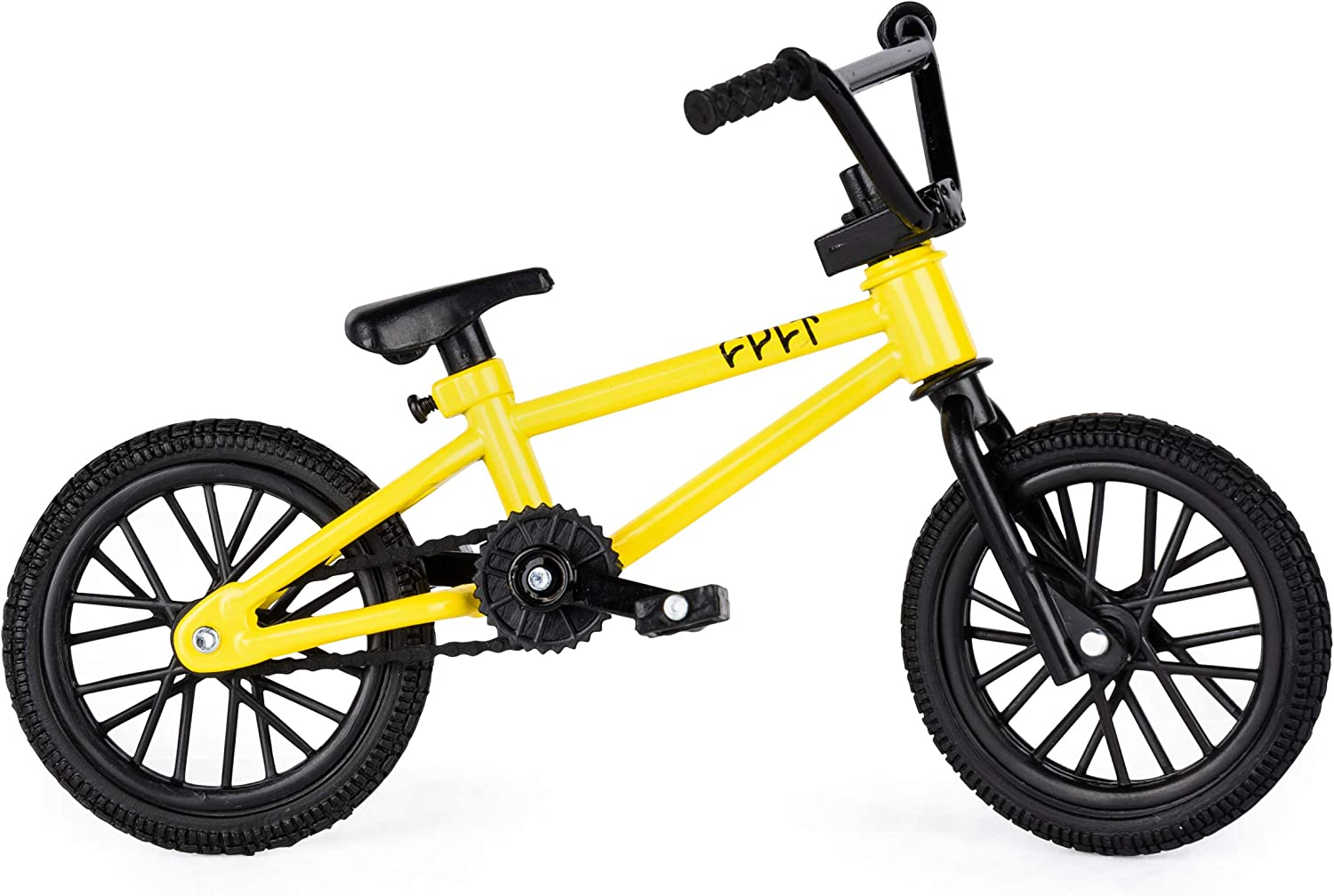Tech Deck BMX Finger Bike Series 12 and Finger Bike Games Flares Yellow Grinds Cult Replica Bike with Real Metal Frame and Moveable Parts for Flick Tricks Graphics
