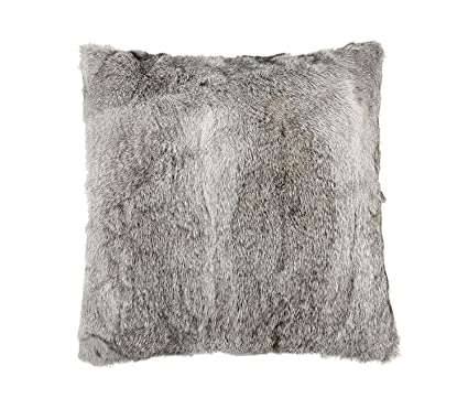 Amazon Easting Household Real Whole Skin Rabbit Fur Pillow Case Unique Rabbit Fur Pillow Cover
