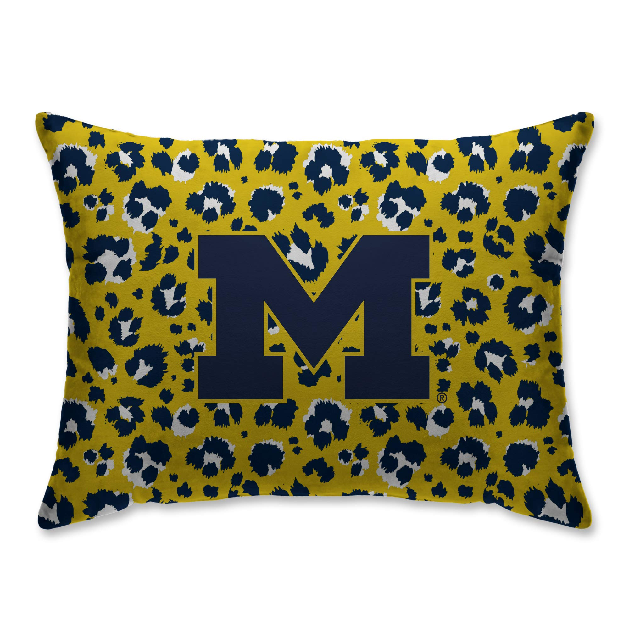 Pegasus Sports Michigan Wolverines 20'' x 26'' Leopard Plush Bed Pillow, Set of 2#690118519 by Pegasus Sports