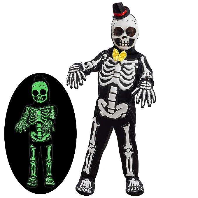 Amazon.com: Spooky Skelebones Deluxe - Disfraz de esqueleto ...